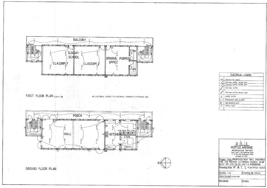 Church Hall Electrical Layout